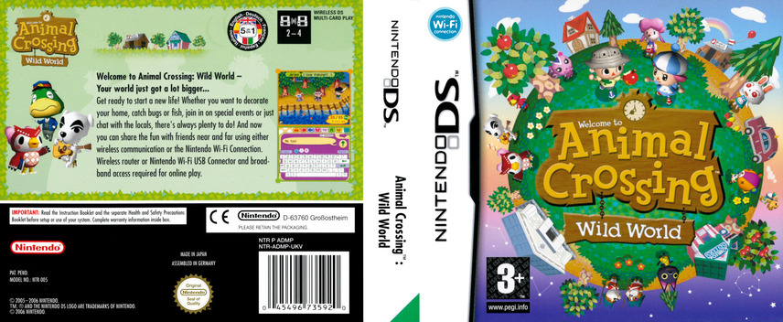 Animal Crossing - Wild World DS coverfullM (ADMP)
