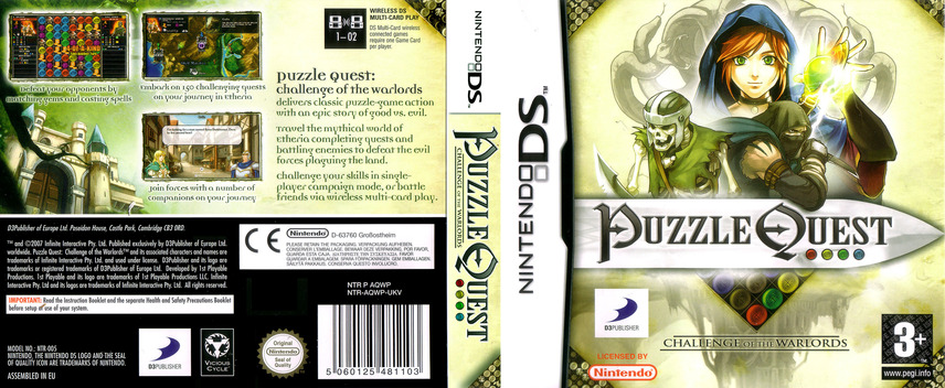 Puzzle Quest - Challenge of the Warlords DS coverfullM (AQWP)