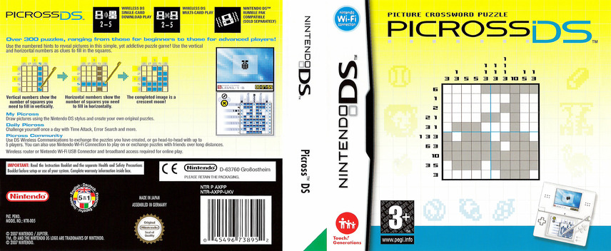 Picross DS DS coverfullM (AXPP)