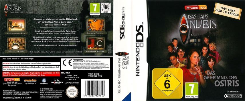 Das Haus Anubis - Das Geheimnis des Osiris DS coverfullM (BHCD)
