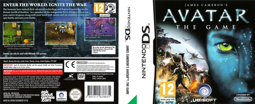James Cameron's Avatar - The Game DS coverfullM (VAVV)