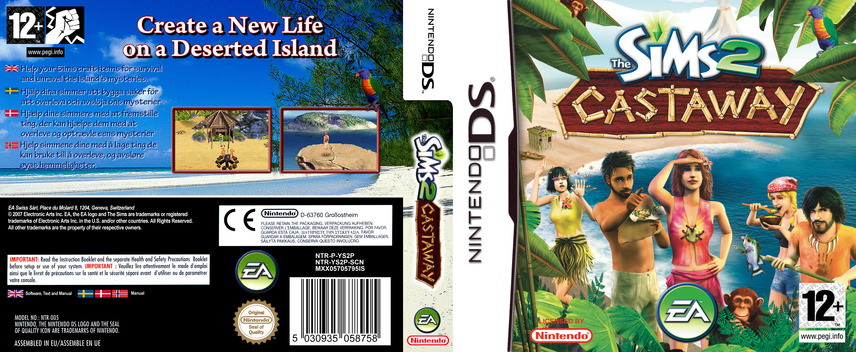 The Sims 2 - Castaway DS coverfullM (YS2P)
