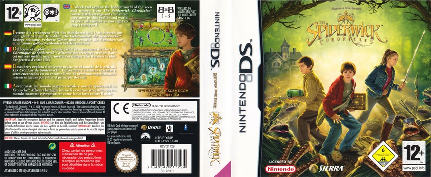 The Spiderwick Chronicles DS coverfullM (YS8P)