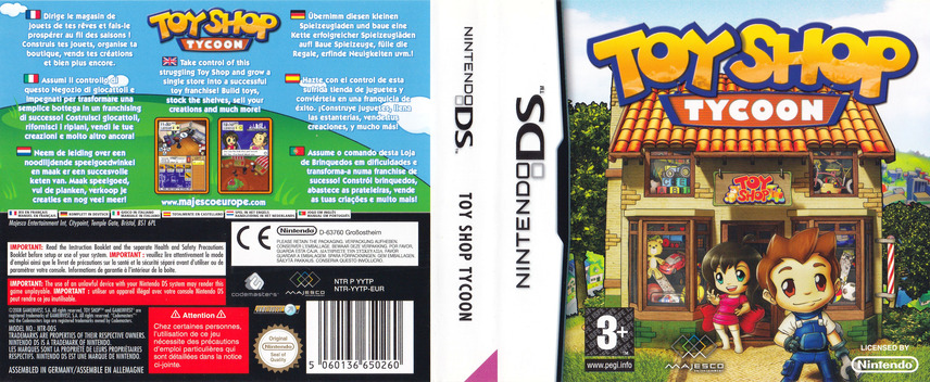 Toy Shop Tycoon DS coverfullM (YYTP)