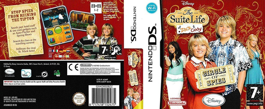 The Suite Life of Zack & Cody - Circle of Spies DS coverfullM (A3HP)
