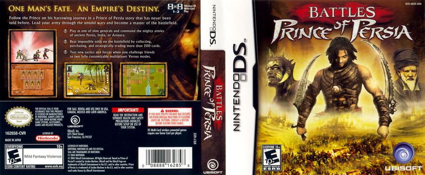Battles of Prince of Persia DS coverfullM (AB2E)