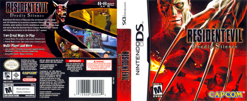 Resident Evil - Deadly Silence DS coverfullM (ABHE)