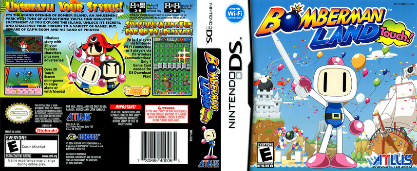 Bomberman Land Touch! DS coverfullM (ABXE)