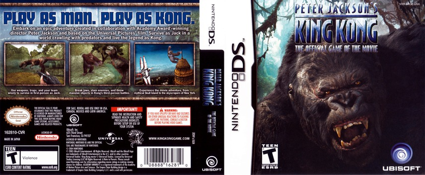 Peter Jackson's King Kong - The Official Game of the Movie DS coverfullM (AKQE)