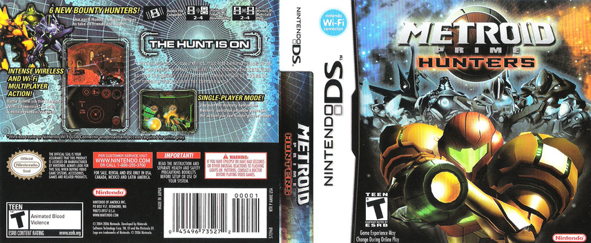 Metroid Prime - Hunters DS coverfullM (AMHE)