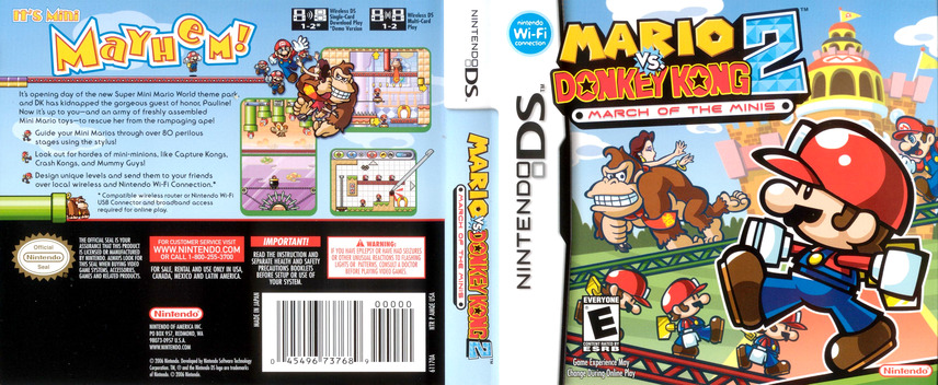 Mario vs. Donkey Kong 2 - March of the Minis DS coverfullM (AMQE)