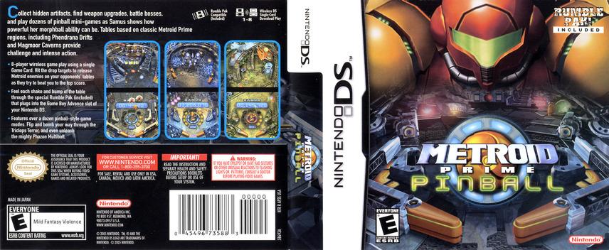 Metroid Prime Pinball DS coverfullM (AP2E)