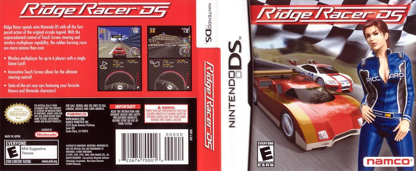 Ridge Racer DS DS coverfullM (ARRE)