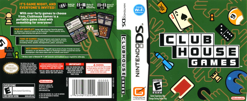 Clubhouse Games DS coverfullM (ATDE)