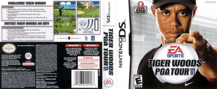 Tiger Woods PGA Tour DS coverfullM (ATWE)