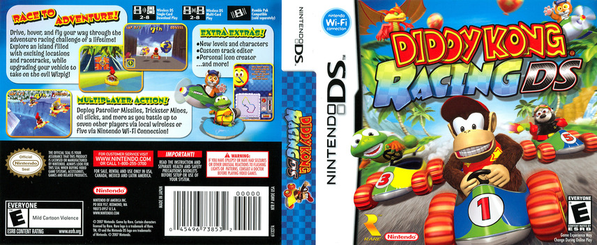 Diddy Kong Racing DS DS coverfullM (AWDE)