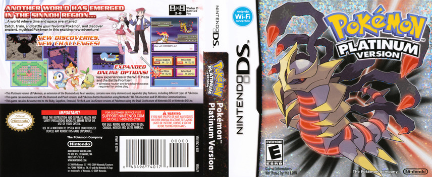 Pokémon - Platinum Version DS coverfullM (CPUE)