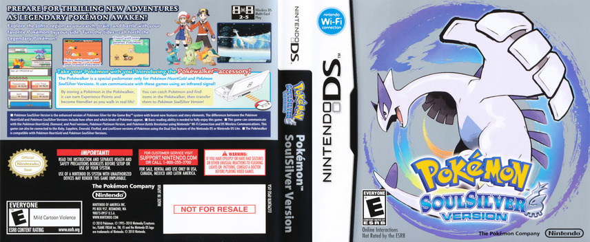 Pokémon - SoulSilver Version DS coverfullM (IPGE)
