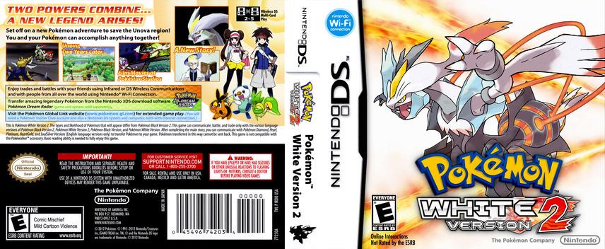 Pokémon - White Version 2 DS coverfullM (IRDO)