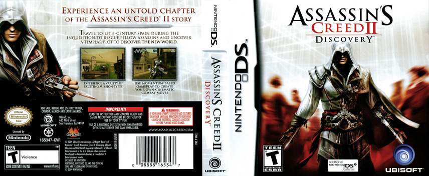 Assassin's Creed II - Discovery DS coverfullM (VACE)