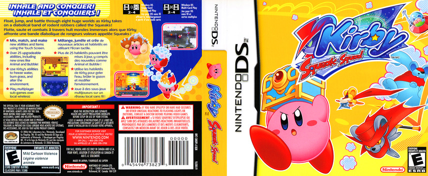 Kirby - Squeak Squad (Demo) DS coverfullM (Y2ME)