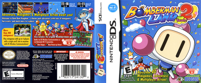Bomberman Land Touch! 2 DS coverfullM (YB2E)