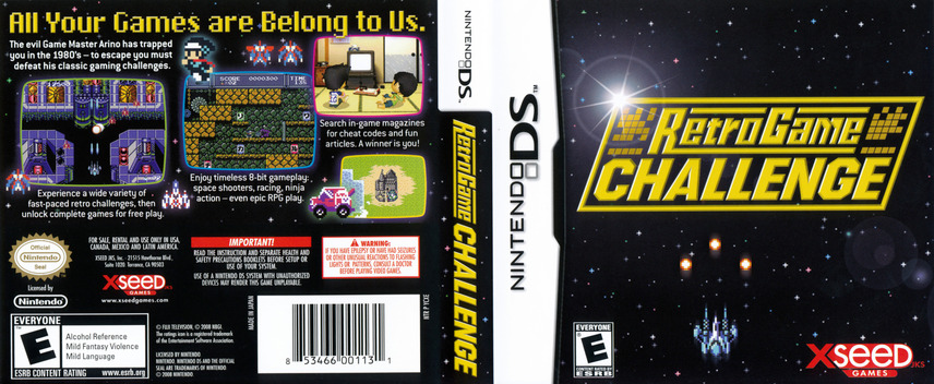 Retro Game Challenge DS coverfullM (YCXE)
