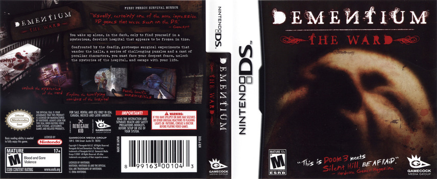 Dementium - The Ward DS coverfullM (YDTE)