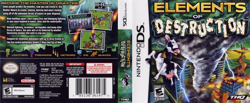 Elements of Destruction DS coverfullM (YEDE)