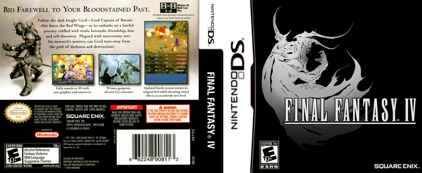 Final Fantasy IV DS coverfullM (YF4E)