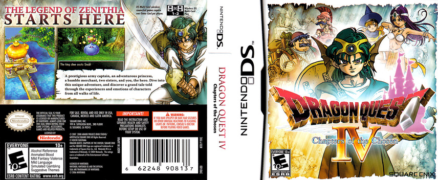 Dragon Quest IV - Chapters of the Chosen DS coverfullM (YIVE)