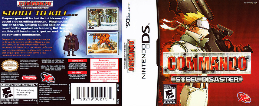 Commando - Steel Disaster DS coverfullM (YW7E)
