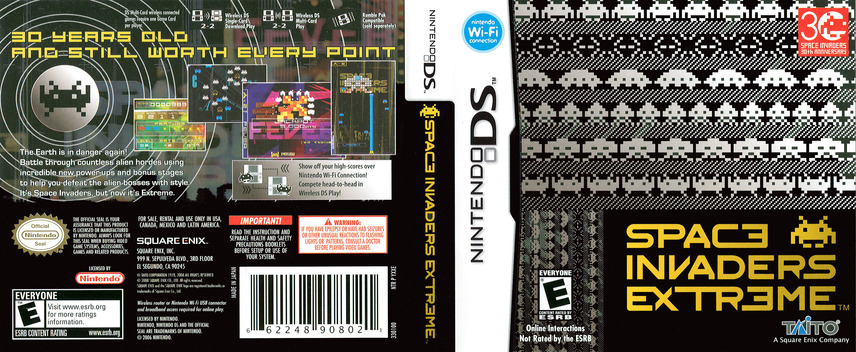 Space Invaders Extreme DS coverfullM (YXXE)
