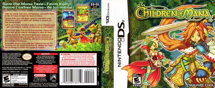 Children of Mana DS coverfullM (ASEE)