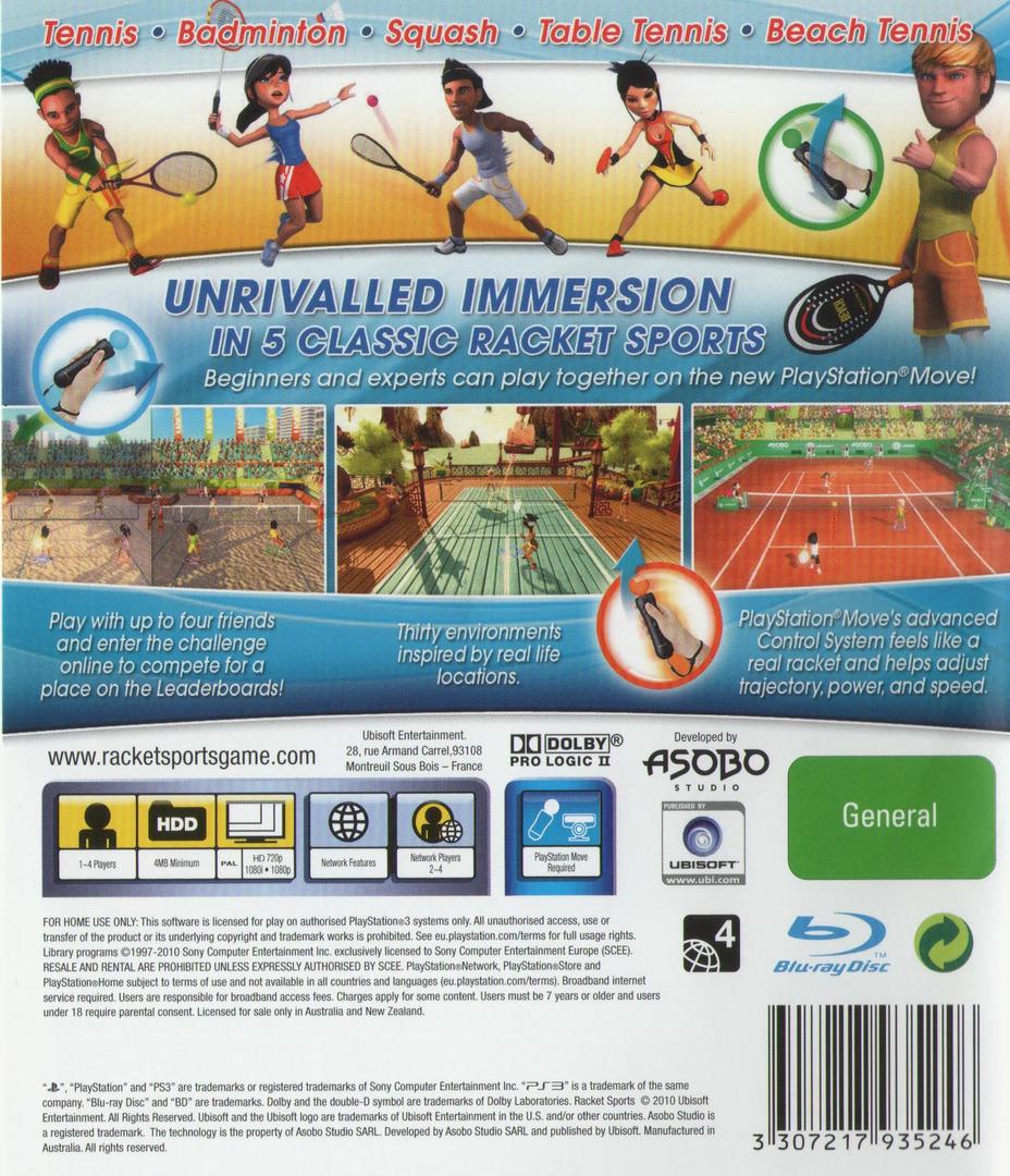 Racket Sports PS3 backHQ (BLES01000)