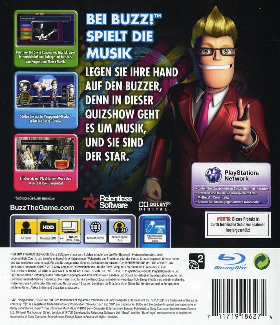 Buzz! Das Ultimative Musik Quiz PS3 backHQ (BCES00828)