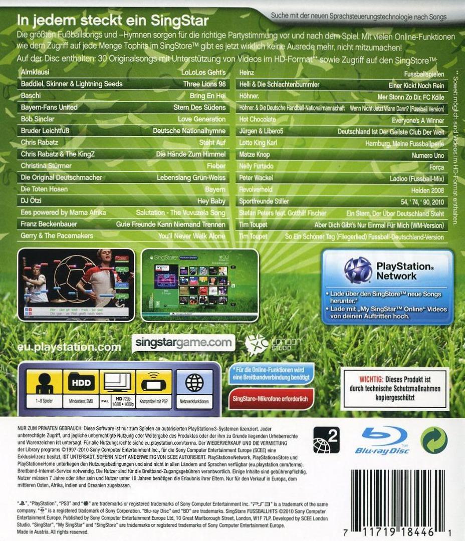 SingStar: Fussball Hits PS3 backHQ (BCES00869)