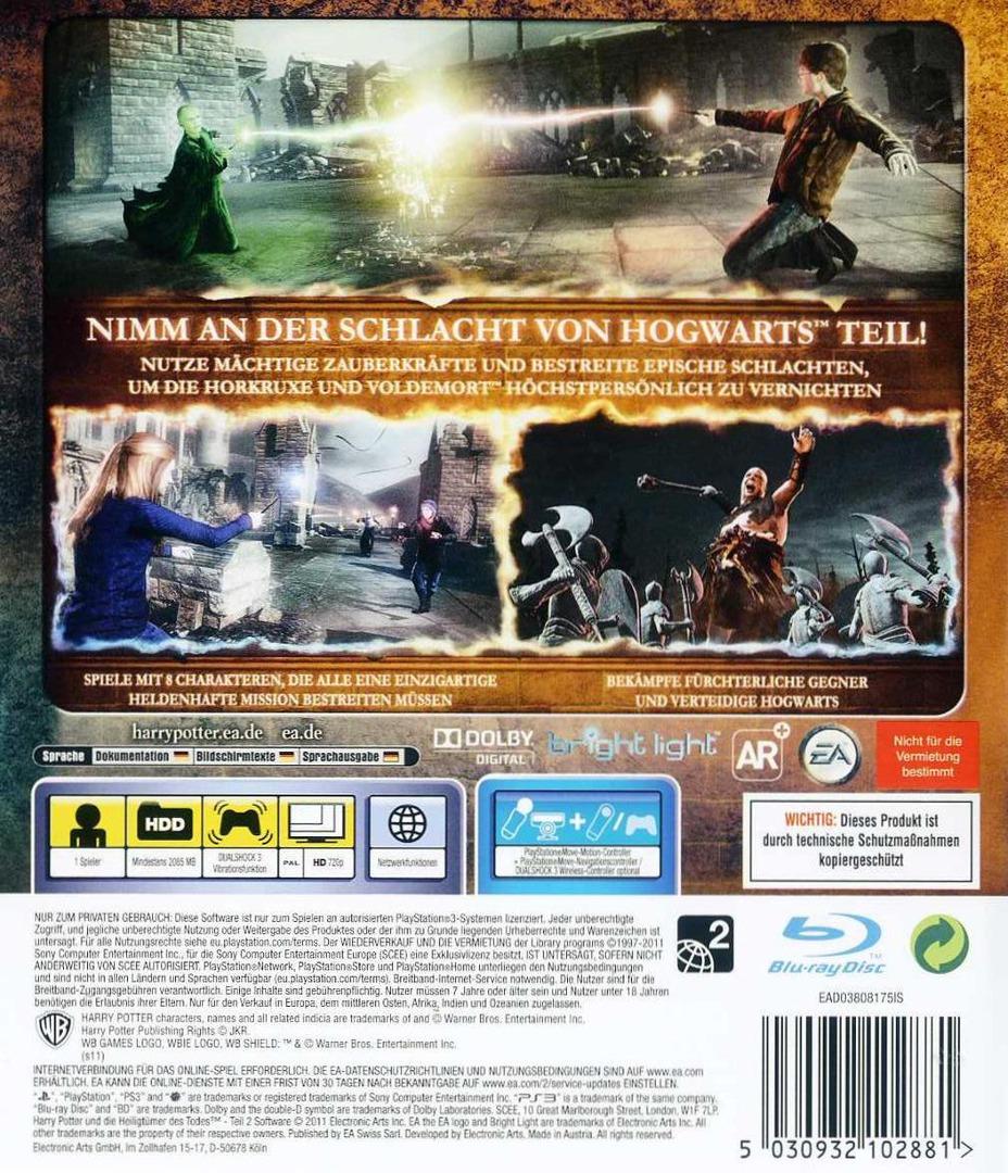 Harry Potter und die Heiligtümer der Todes - Teil 2 PS3 backHQ (BLES01307)