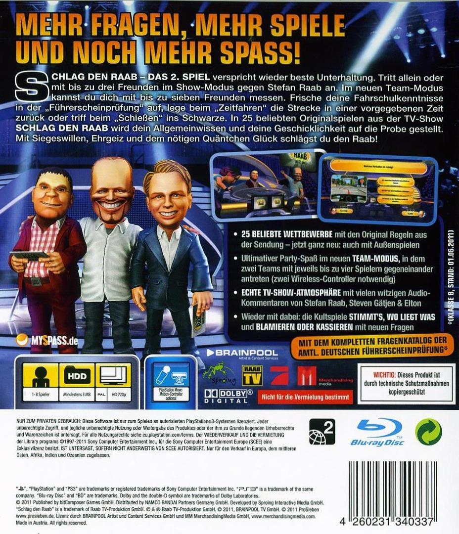 Schlag den Raab 2 PS3 backHQ (BLES01444)