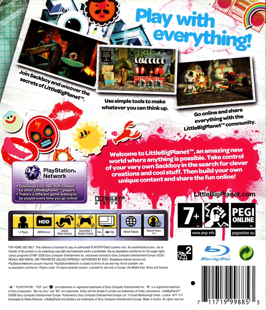 LittleBigPlanet PS3 backHQ (BCES00141)