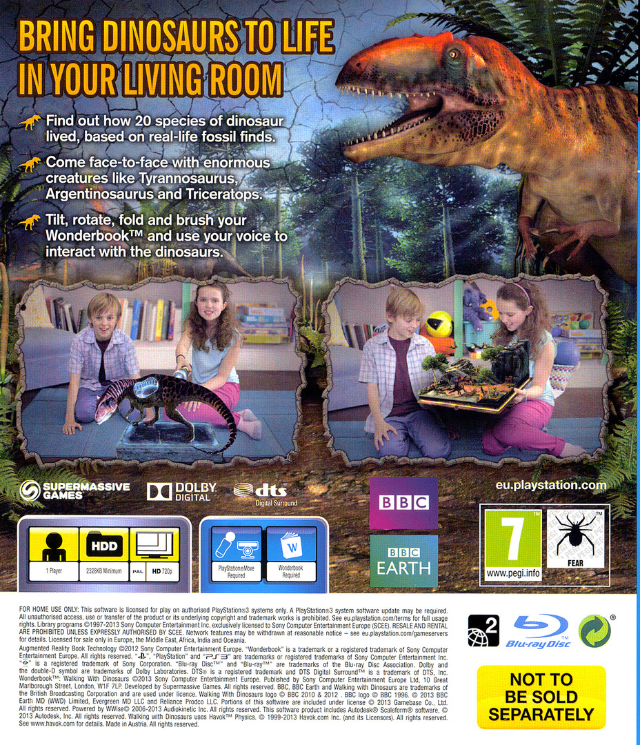 Wonderbook: Walking with Dinosaurs PS3 backHQ (BCES01953)