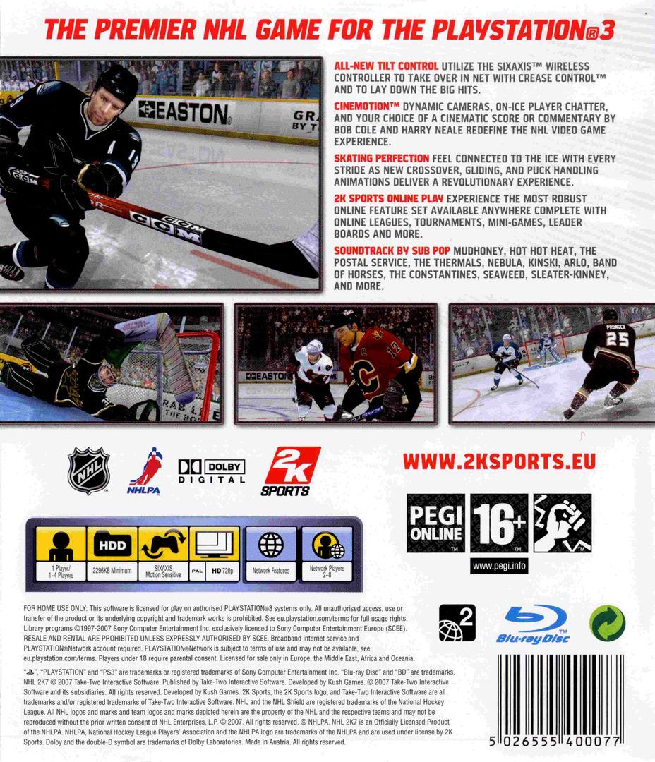 NHL 2K7 PS3 backHQ (BLES00033)