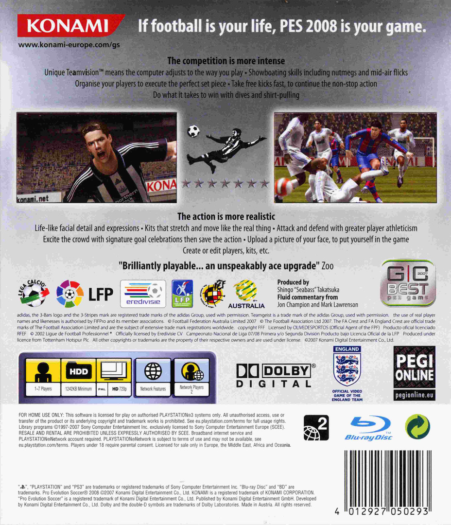 Pro Evolution Soccer 2008 PS3 backHQ (BLES00110)