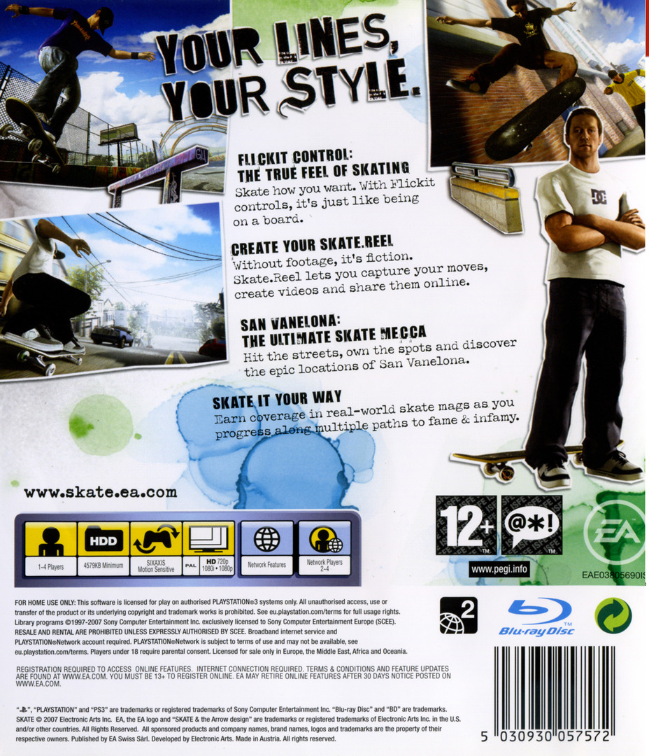 Skate PS3 backHQ (BLES00124)