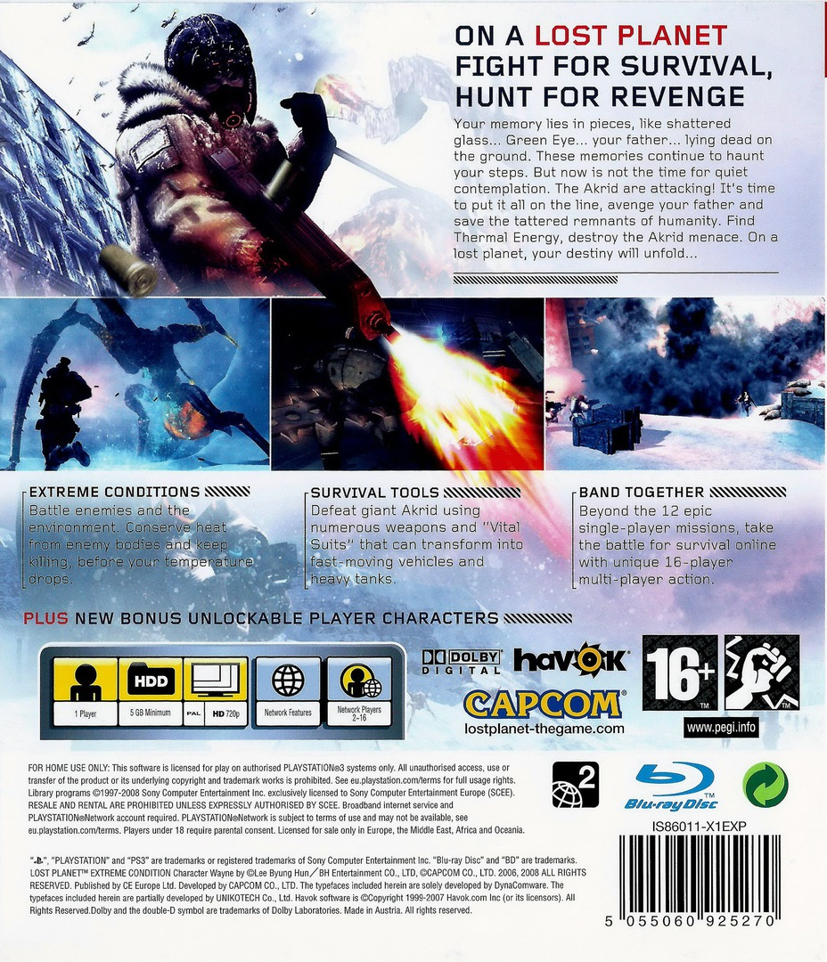 Lost Planet: Extreme Condition PS3 backHQ (BLES00198)