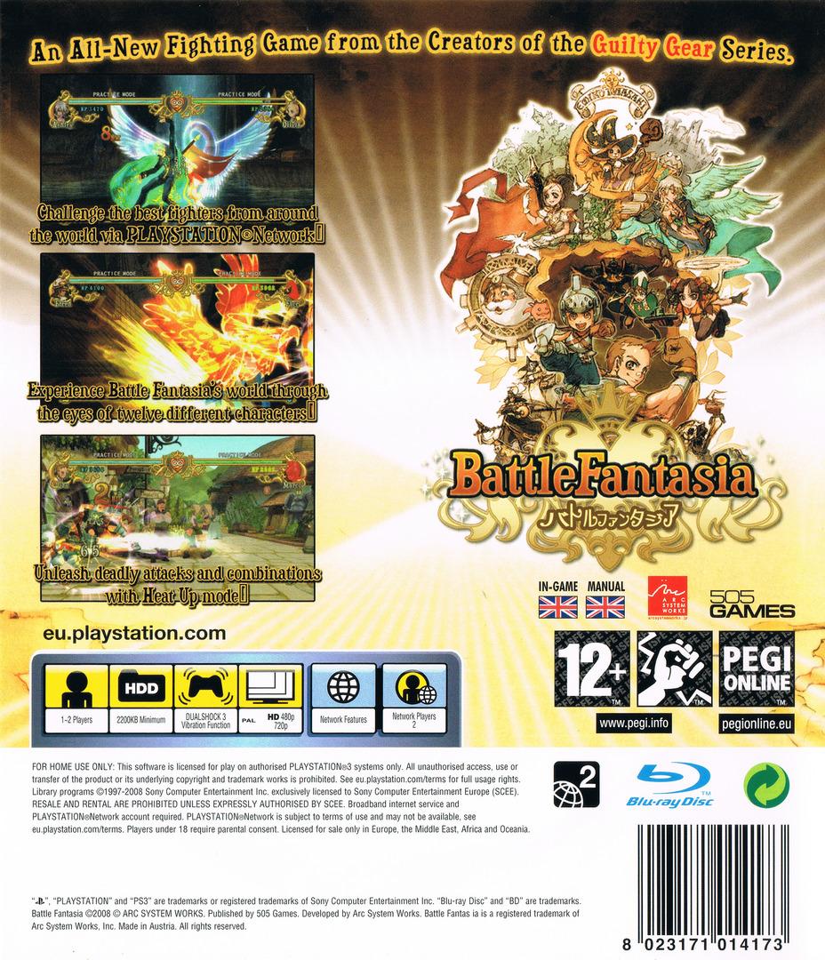 Battle Fantasia PS3 backHQ (BLES00253)