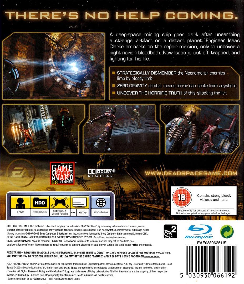 Dead Space PS3 backHQ (BLES00308)