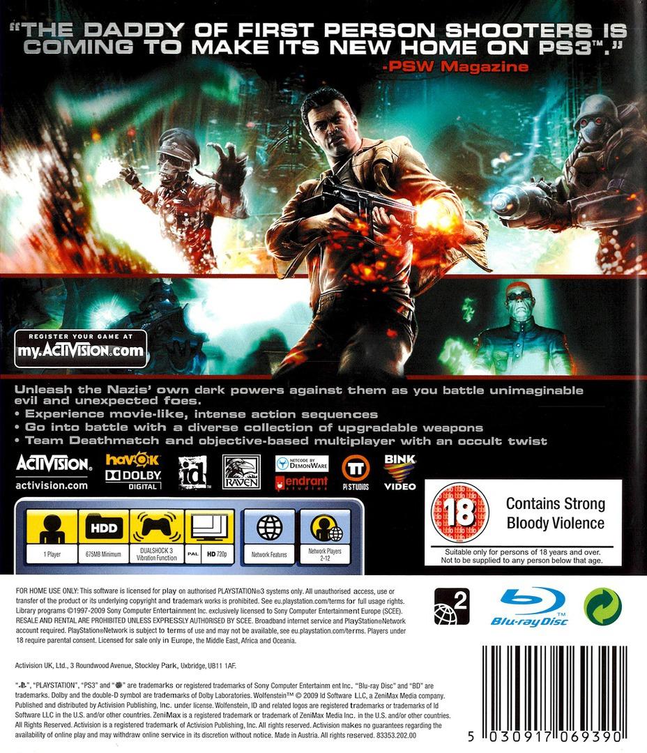 Wolfenstein PS3 backHQ (BLES00564)