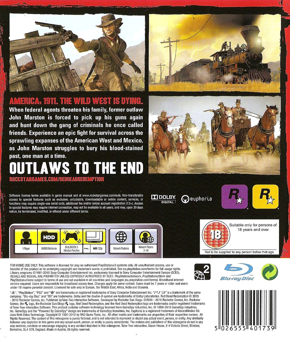 Red Dead Redemption PS3 backHQ (BLES00680)