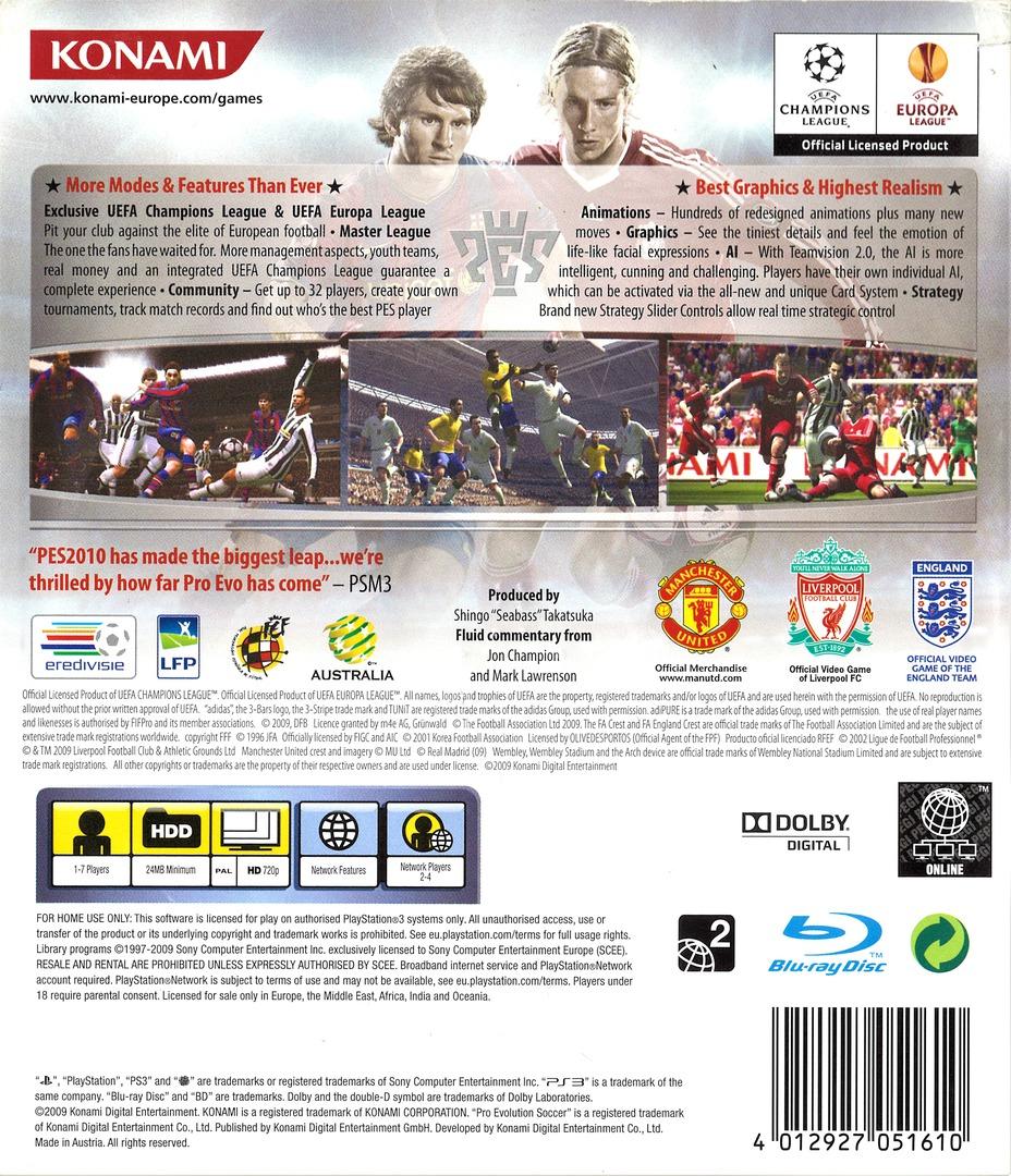 Pro Evolution Soccer 2010 PS3 backHQ (BLES00688)